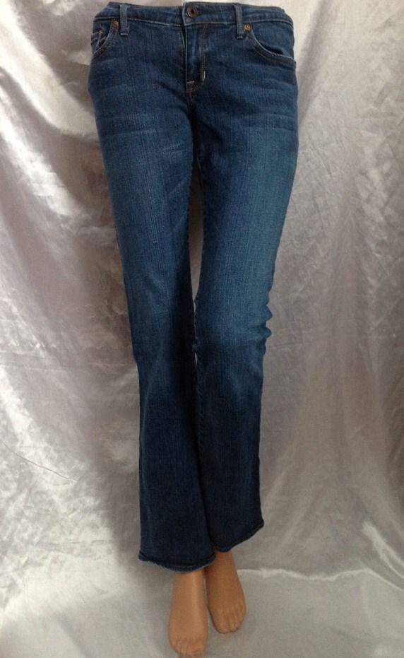 9eec46c83 Abercrombie Kids Girls 16 Jeans Boot Cut Hayley Stretch Medium Denim Blue  Pants
