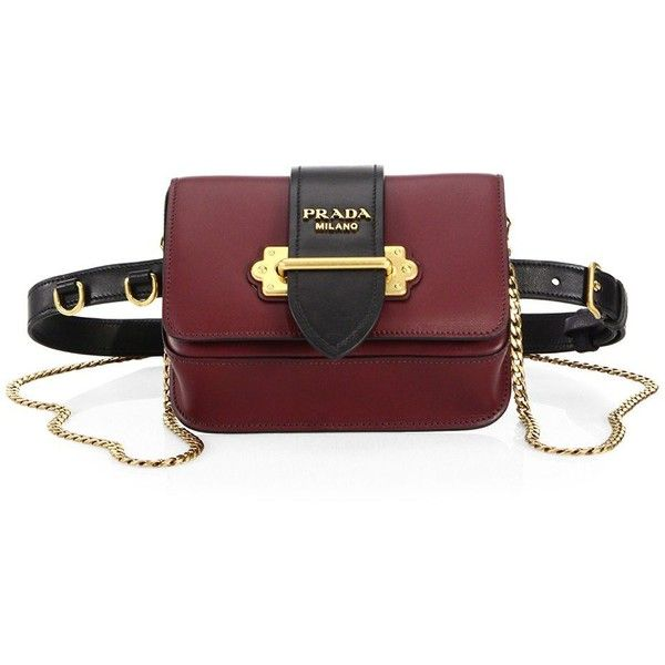 f709bd887533 Compact leather belt bag with versatile chain strap Removable ...