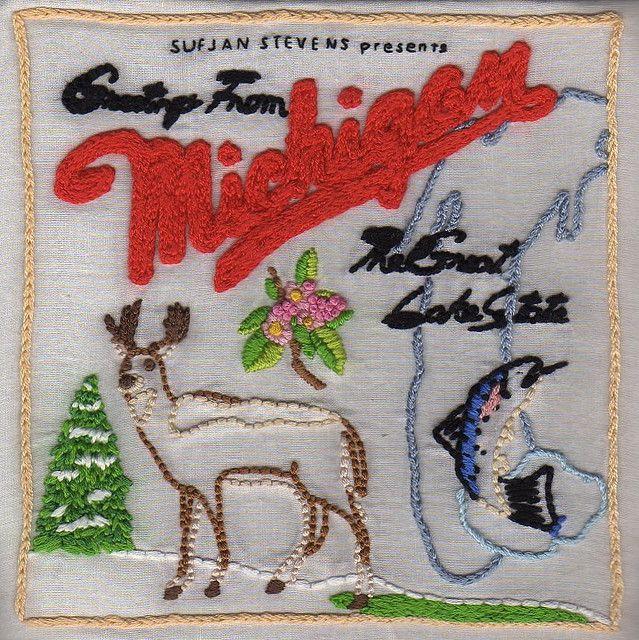 Sufjan stevens greetings from michigan embroidery music sufjan stevens greetings from michigan embroidery m4hsunfo