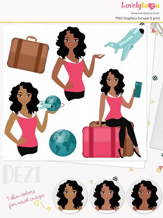 Woman Traveller Character Clipart Travel Agent Woman Clipart Clip Art Girls Illustration Design Bundles