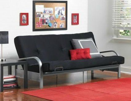 Mainstays Metal Arm Futon With Mattress Black Find Out More About The Great Product At
