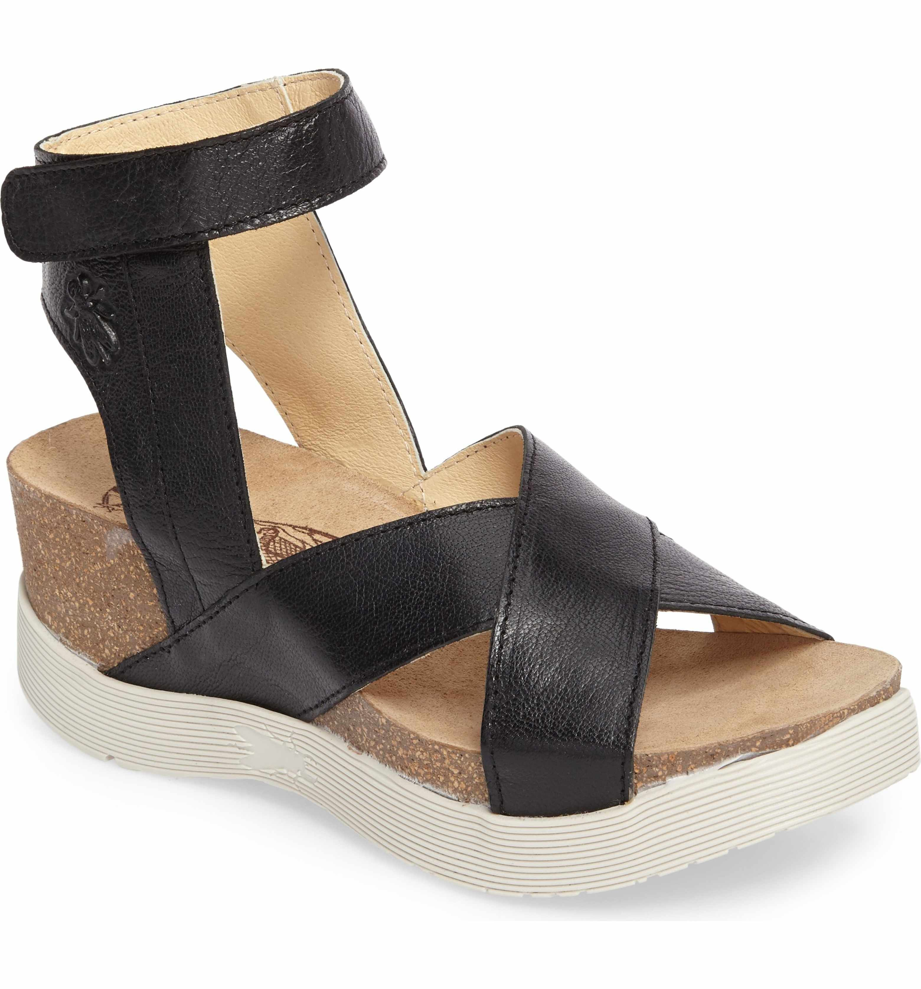 bbac60716f76 Fly London Weel Nubuck Leather Platform Sandal (Women)