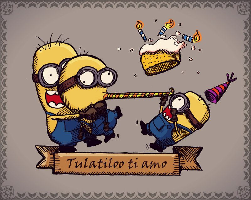 Minion Birthday card by Z4N9.deviantart.com on @deviantART ...