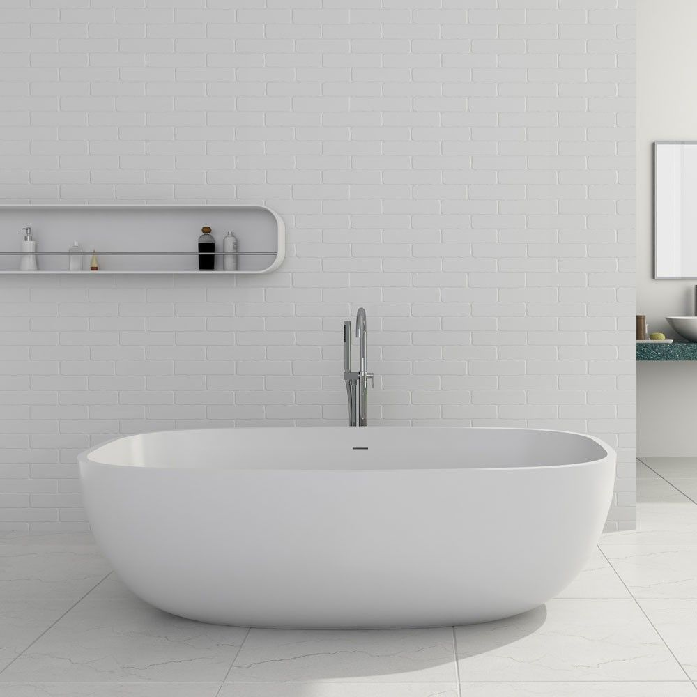 Giorgio 67 Inch Solid Surface Freestanding Double Ended Bathtub