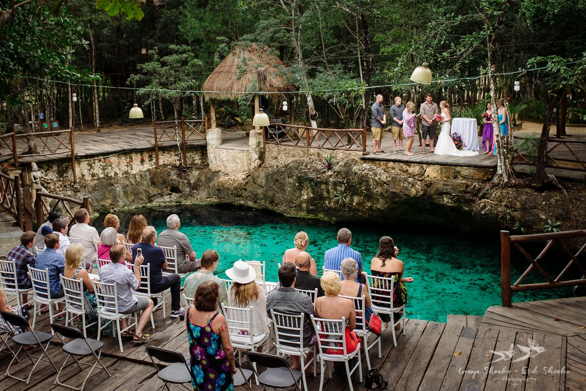 Off Resort Wedding In Tulum Cenote