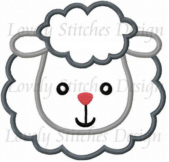 Sheep Face Applique Machine Embroidery Design No0288 Camisetas