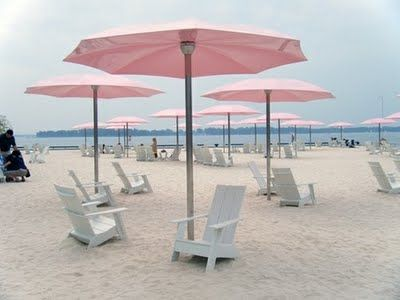 Beach Umbrellas And Adirondack Chairs Yes For Me