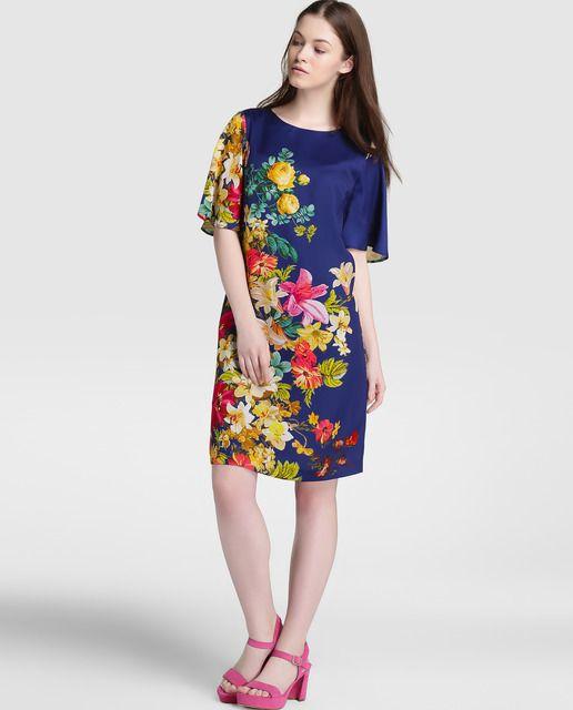 Vestido corto de mujer Antea con estampado floral | Floral and Moda