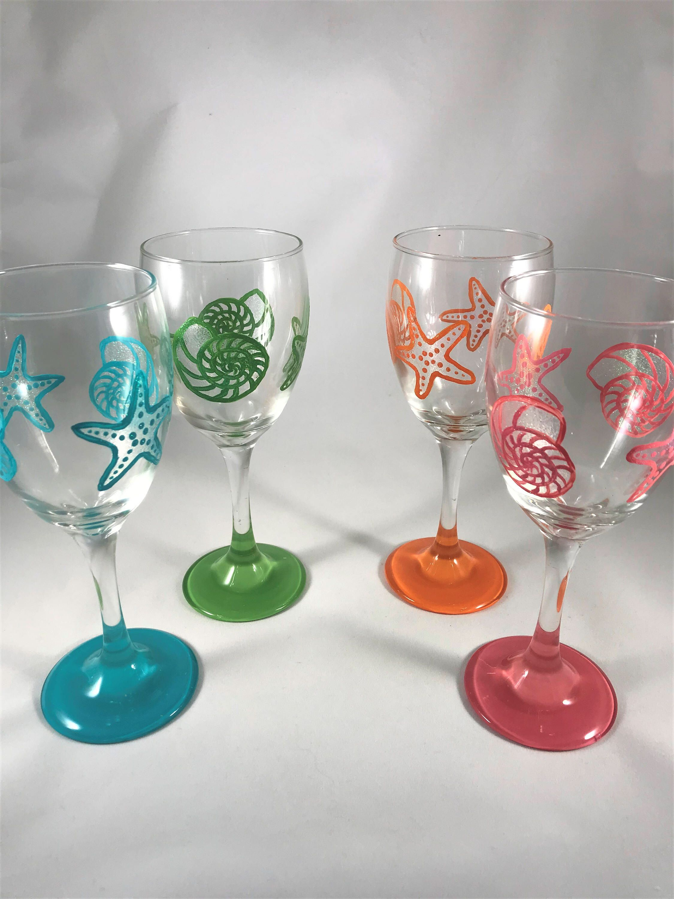 Inside Novelty Goblet Glass Glassware Red Wine Glasses Starfish Dolphin For Home