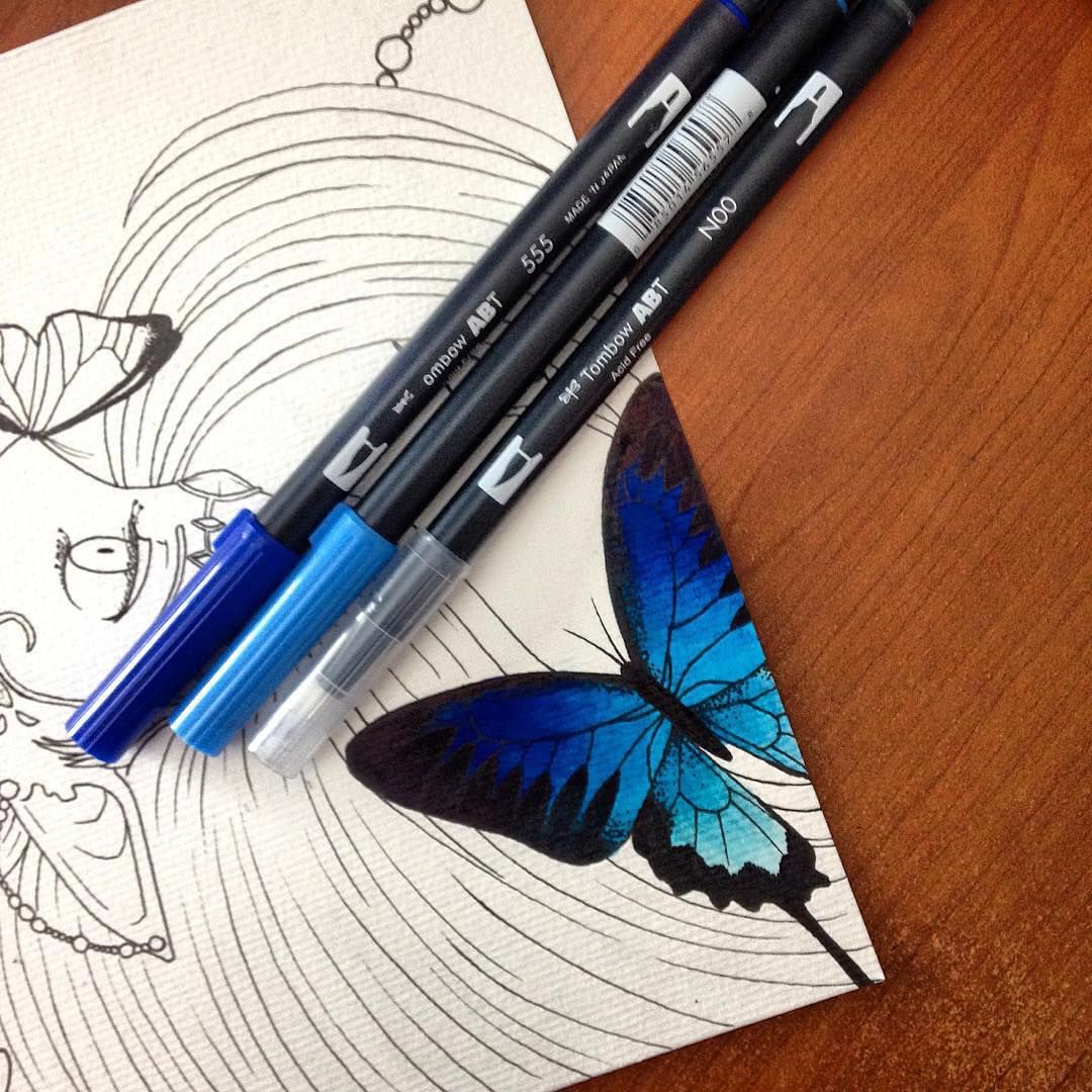 Tombow Usa On Instagram Swooning Over This Gorgeous Blending Kat Schrodinger Created Using Our Dual Brush Brush Pen Art Pen And Watercolor Tombow Brush Pen