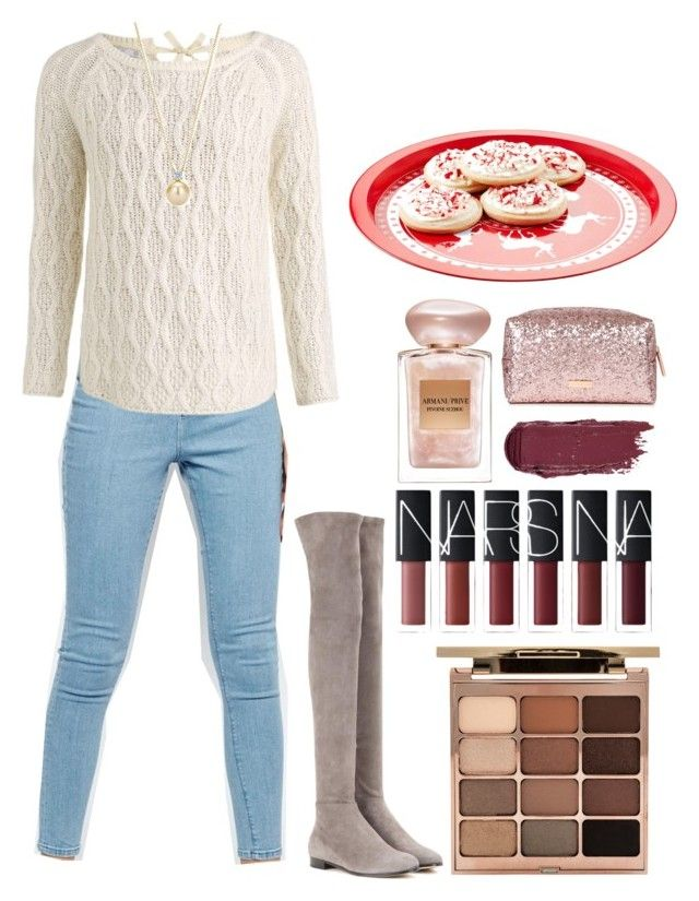 """Cookies for Santa"" by silent-sorrow ❤ liked on Polyvore featuring WÃ¥ven, Jimmy Choo, Stila and Giorgio Armani"
