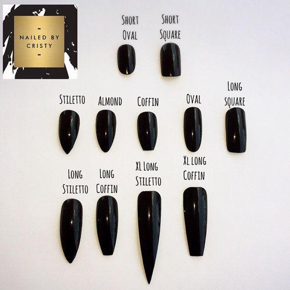Gold Glitter Press On Nails Glitter Nails Fake by NailedByCristy #nailsshape