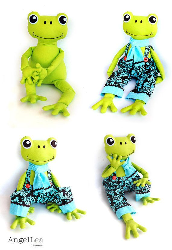 Fergus the Frog Softie PDF Sewing Pattern en 2018 | Toys to create ...