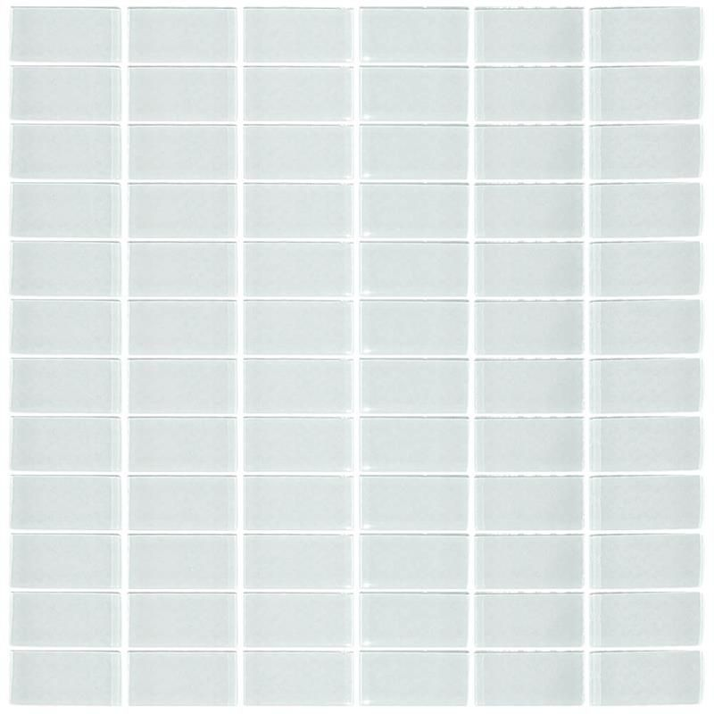 Arctic White Stacked Joint 1 X 2 Glass Subway Tiles Pr148 8sj Mosaic Glass Glass Wall Wall Tiles