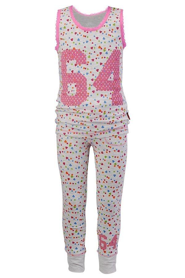 8b37fbfafbf Claesen's pyjama voor meisjes Hearts rose groen rood geel grijs ...
