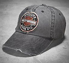 d6175e0d4 Genuine Oil Patch Cap   Men's Motorcycling   Harley davidson hats ...