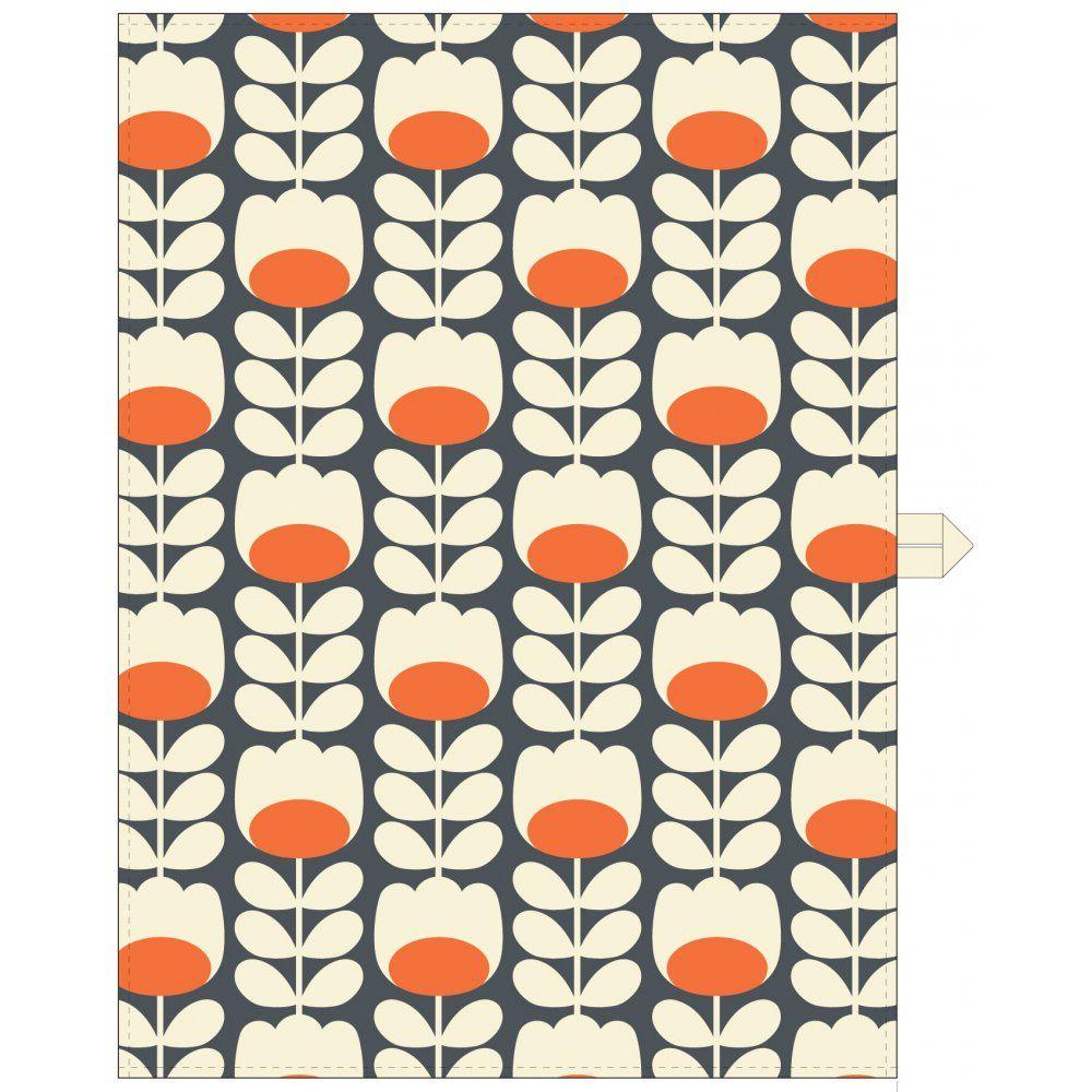 Orla kiely tulip patterned tea towel hurn and hurn họa tiết
