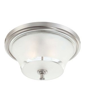 Brushed Nickel 15'' Patrone Double-Light Ceiling Fixture by Nuvo Lighting #zulily #zulilyfinds