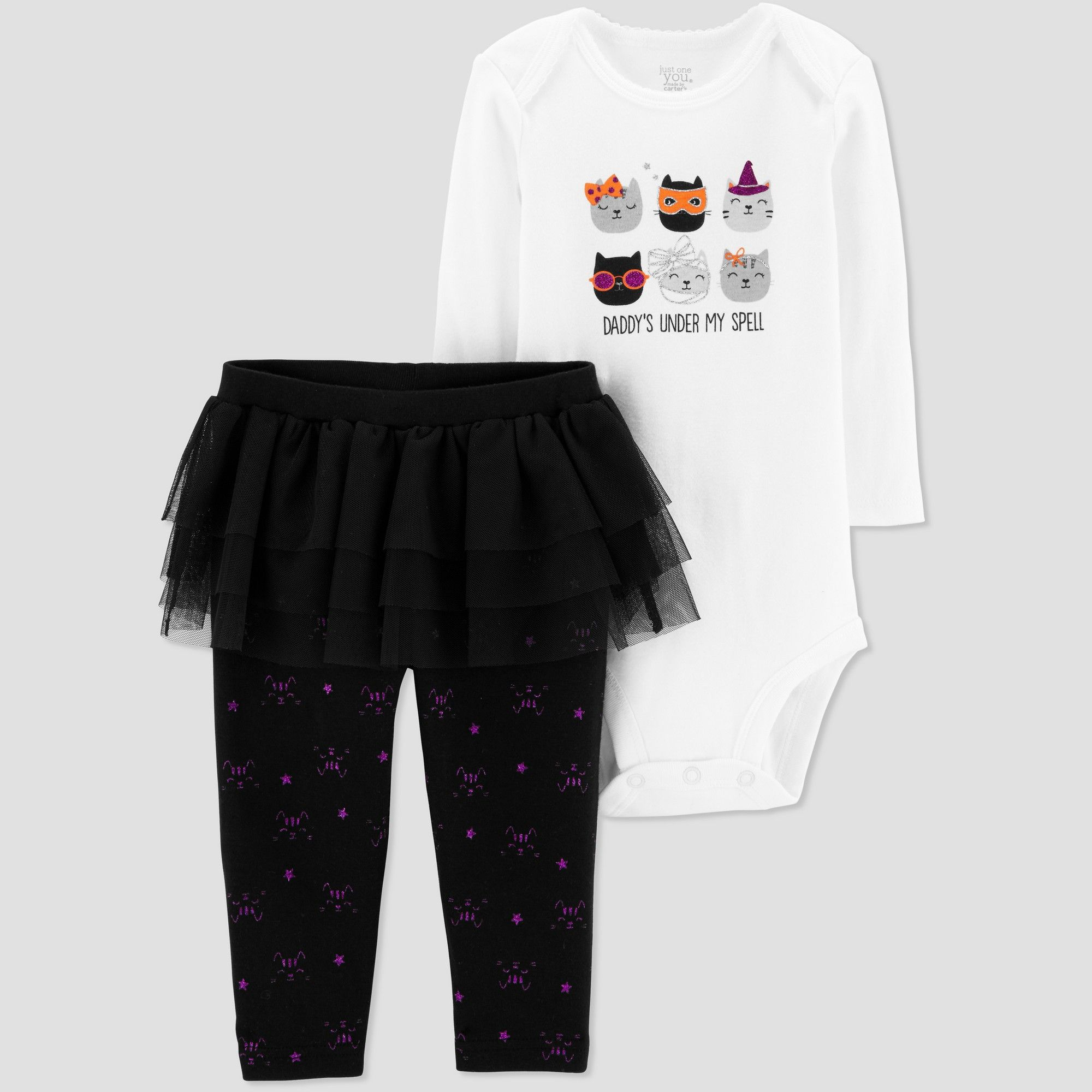 f75c661ba Baby Girls' 2pc Halloween Cats Set - Just One You made by carter's White 12M