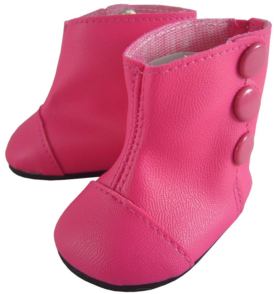 """Victorian Dark Pink High Button Boots Shoes for 18"""" American Girl Dolls Samantha #Moniques"""