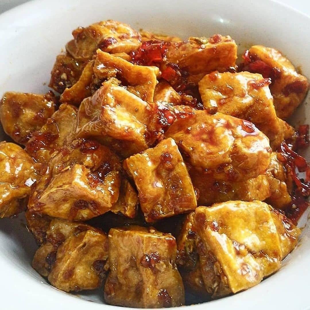 Kasih Dulu Kak Biar Yang Ngapload Semangat Tahu Goreng Cabe Masak Kecap By Yanesthi Dapet Res Food Sweet And Sour Pork Food And Drink
