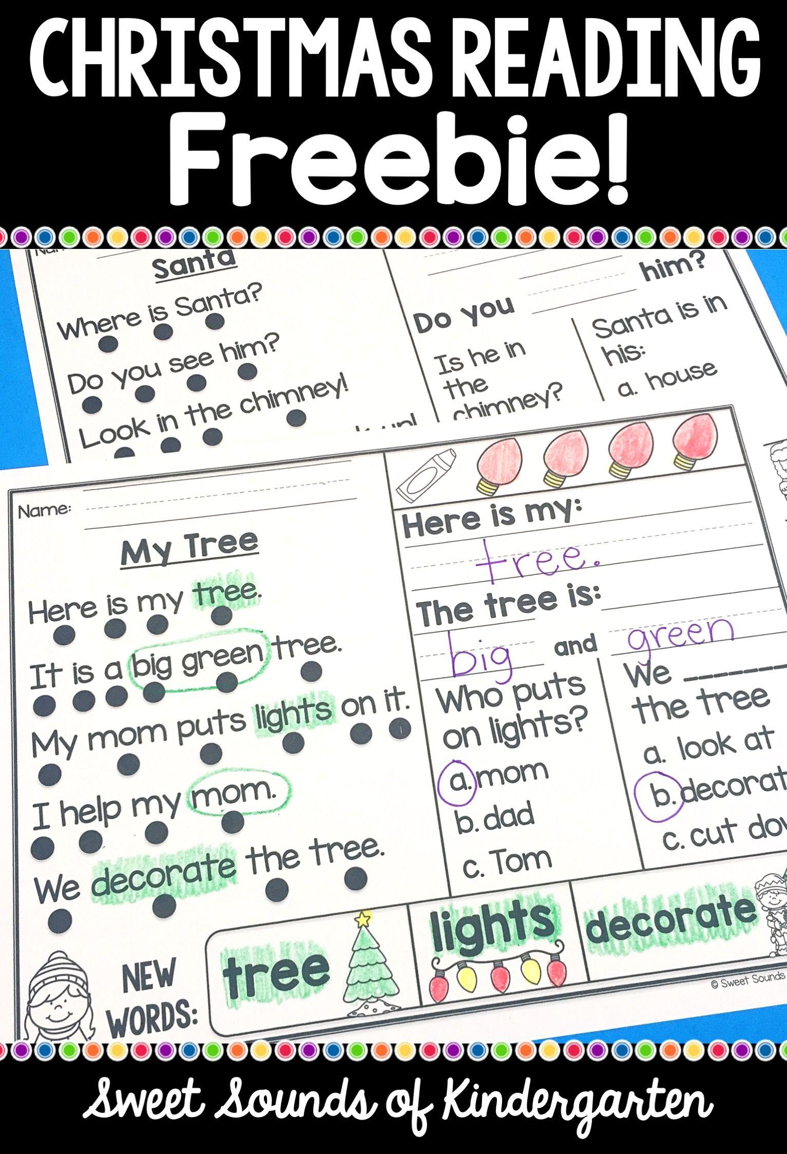 Kindergarten Reading Comprehension Passages Christmas Freebie Christmas Reading Passages Reading Comprehension Kindergarten Reading Comprehension Passages [ 2248 x 1533 Pixel ]