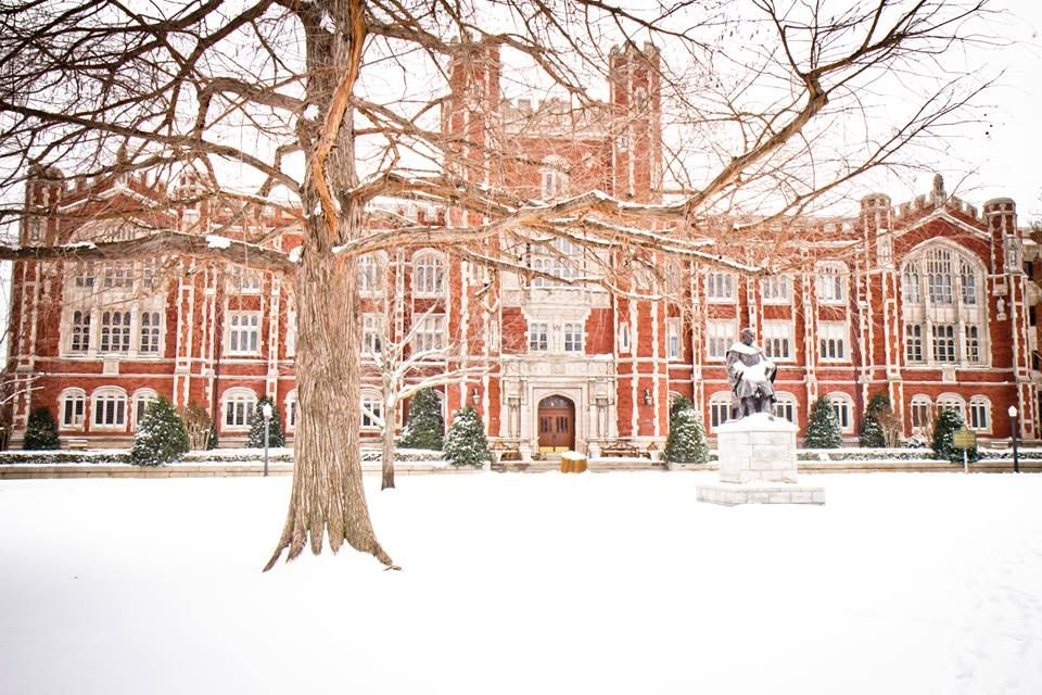 Campus in the snow = GORGEOUS! | Campus | Oklahoma state