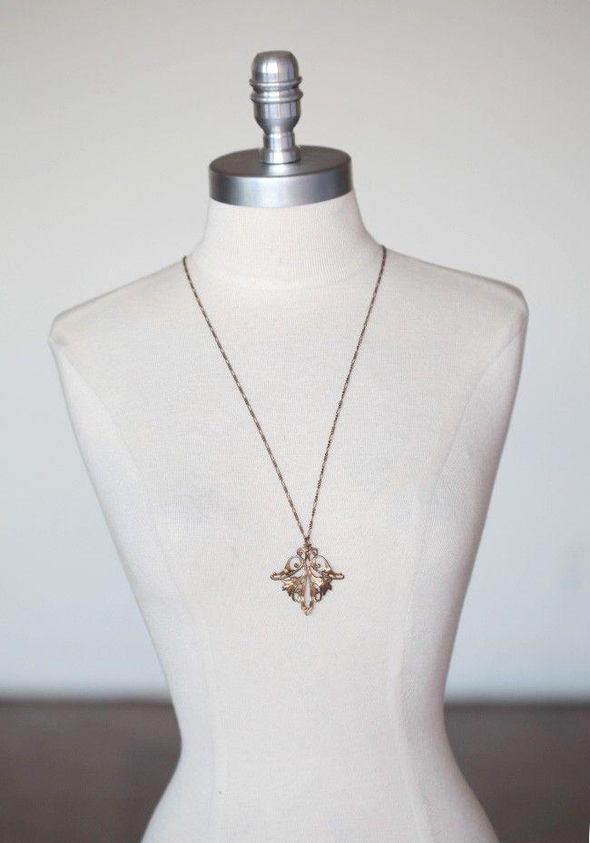 Decadent Filigree Indie Necklace   Modern Vintage Necklaces   Modern Vintage Jewelry