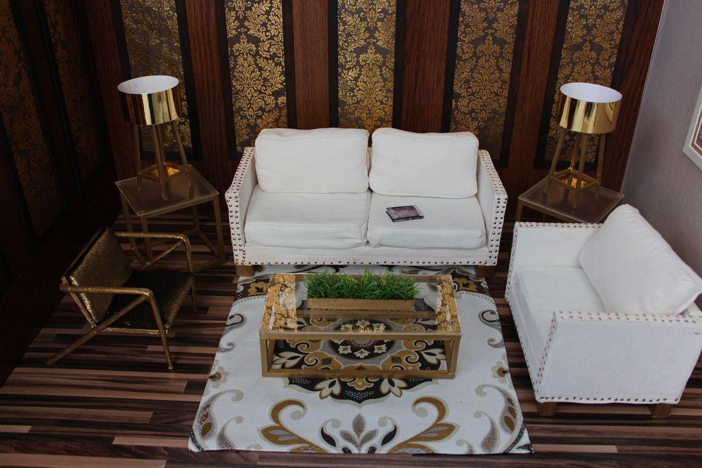 Golden Sophistication Rooms to go, Barbie furniture, End