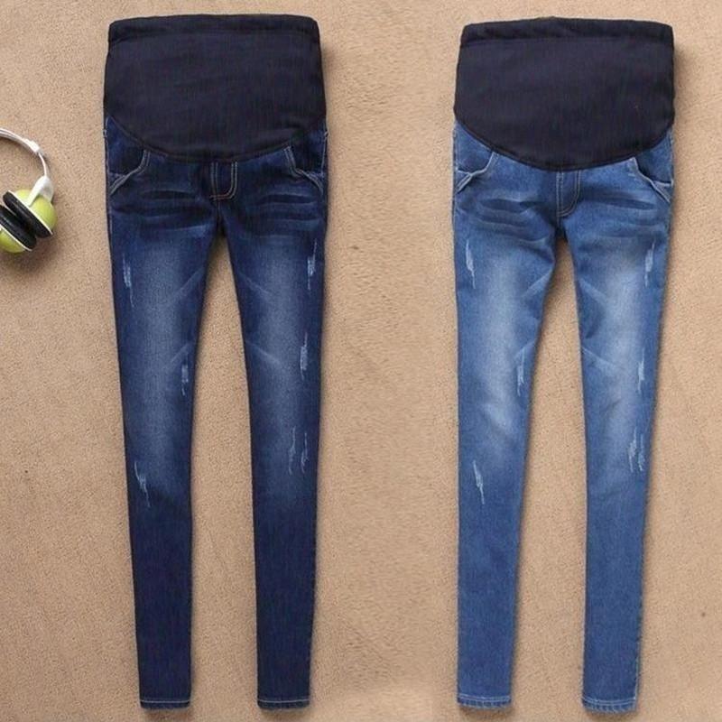 Taille Haute Slim Coton Jeans Femme Enceinte BEKUTY Jeans de Maternit/é Femme Pantalons de Maternit/é Jeans de Grossesse
