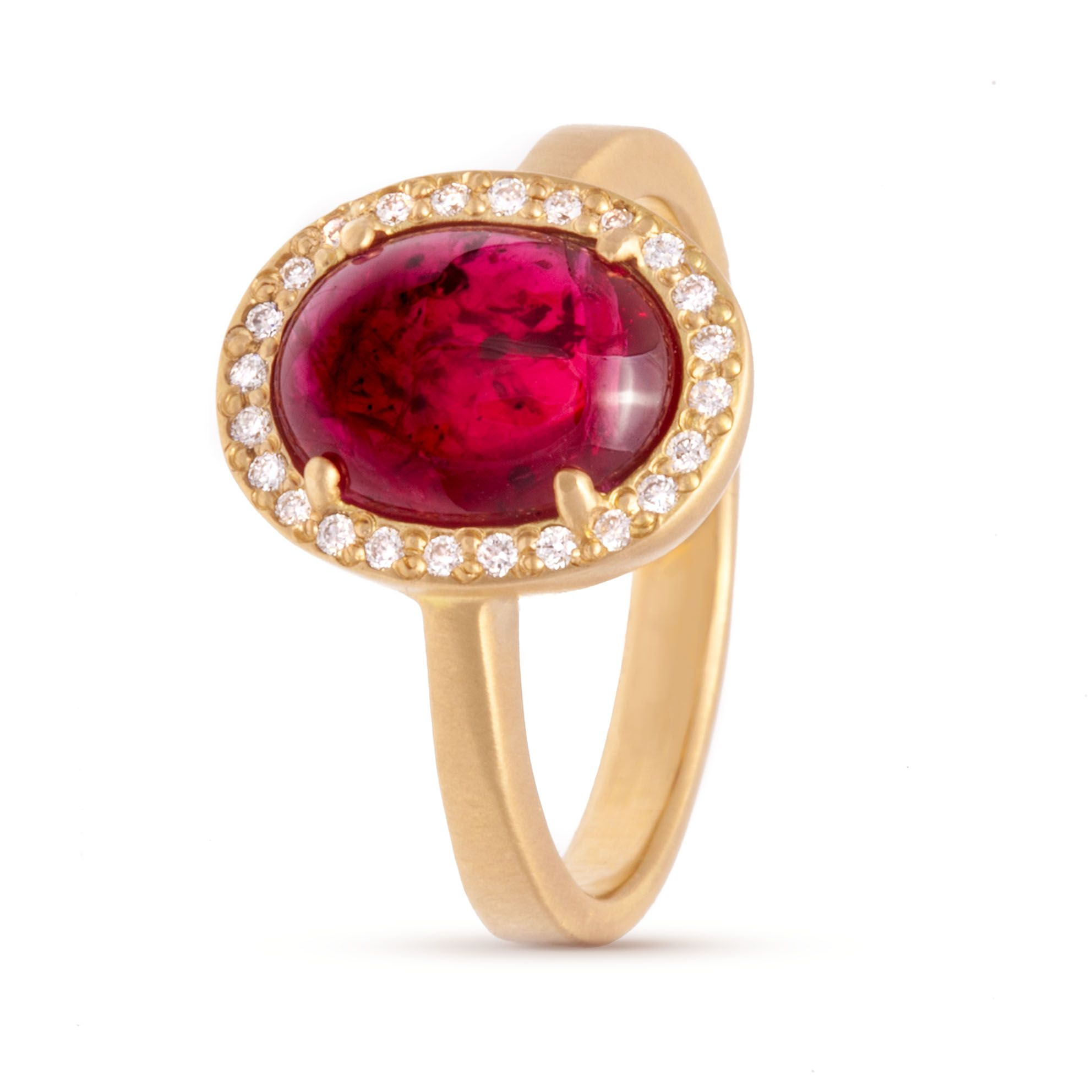 Vintage Cabochon Ruby Ring Ring Designers and Three diamond ring