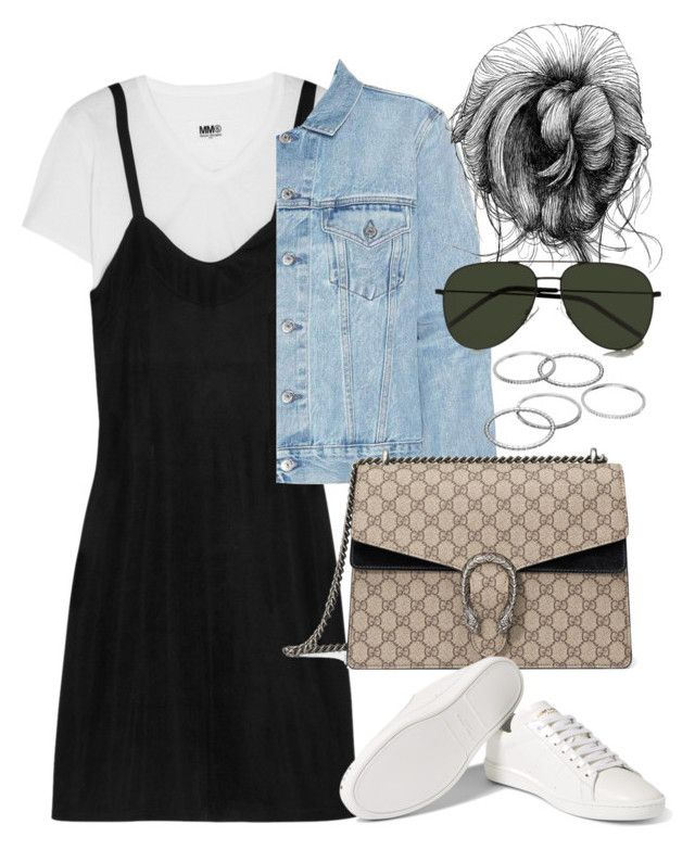 """""""Untitled #3800"""" by lily-tubman ❤ liked on Polyvore featuring MM6 Maison Margiela, Acne Studios, Gucci, Yves Saint Laurent and Apt. 9"""