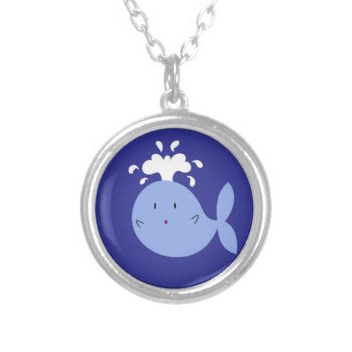 Cute Cartoon Blue Whale Pendant