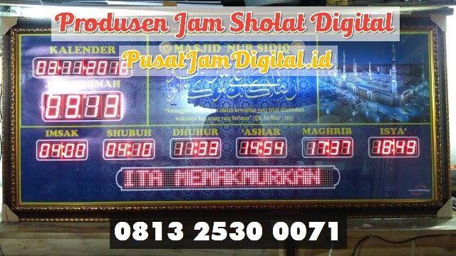 Jam Dinding Digital Di Muara Enim Wa 0813 2530 0071 Pembuatan Jam
