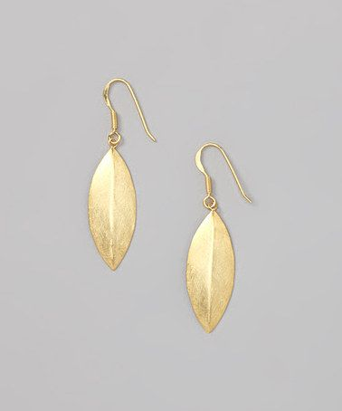 Take a look at this Gold Leaves Earrings by Argento Vivo on #zulily today!