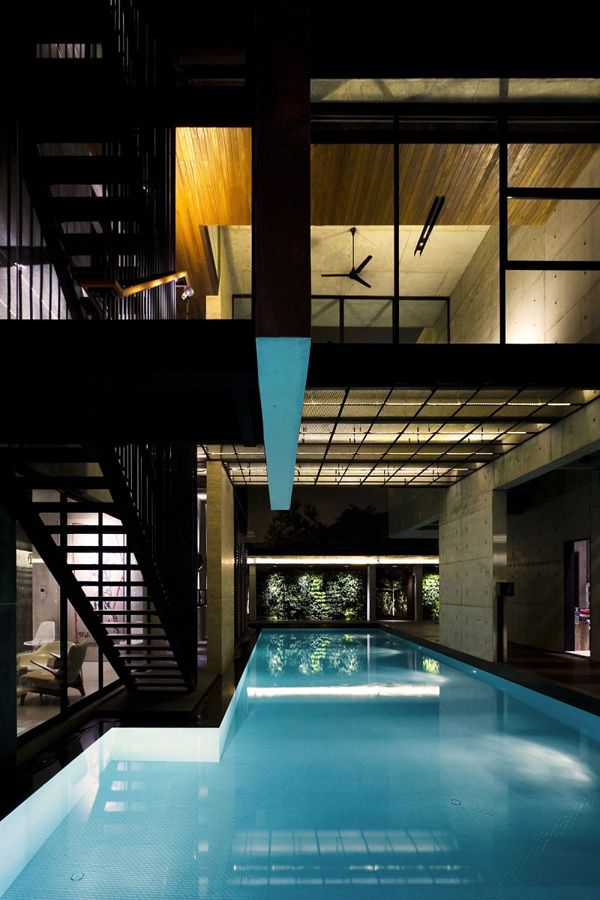 the apartment house with amazing indoor pool in singapore 2 rh pinterest com