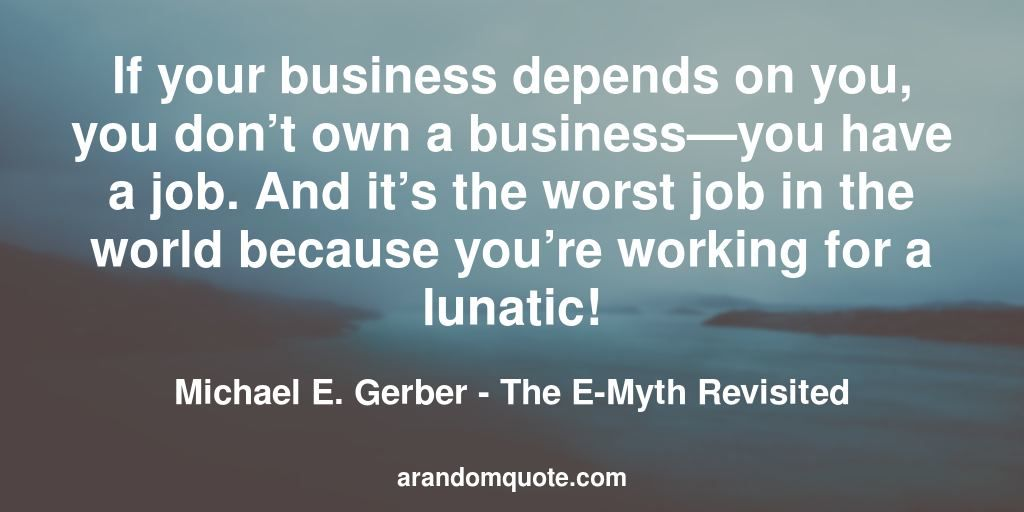 Best image quotes from The E-Myth Revisited book | Image quotes ...