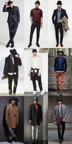 Men S Fedora Hat Outfit Inspiration Lookbook Fedora Hat Outfits