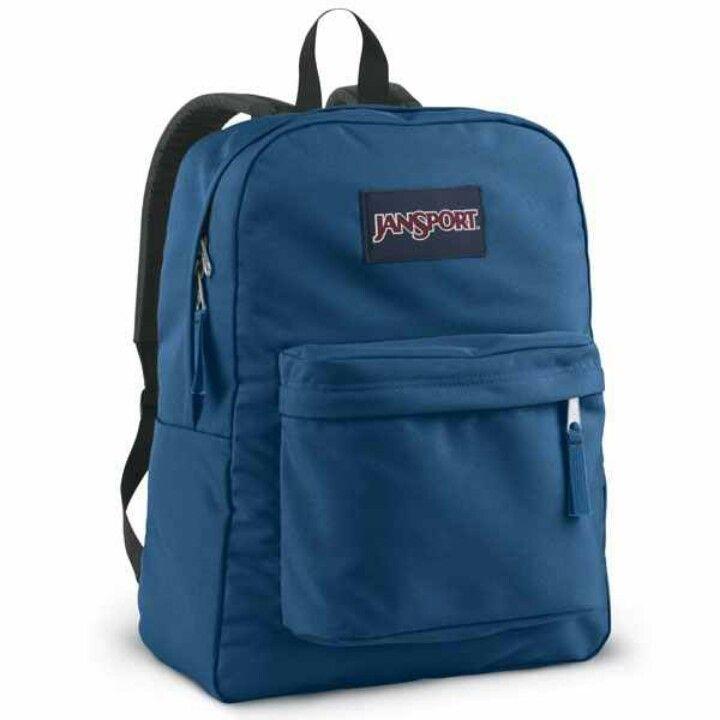 Bookbag for school :) JanSport Superbreak bookbag in Blue Streak