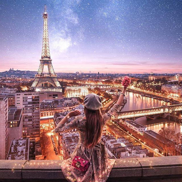 Schöne Pariser Nacht 🌙 🌙 Yay? 💕 Tag someon … – #Beautiful #night #paris #someon #Tag