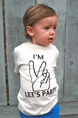 TWO PEACE Birthday Shirt Toddler shirt