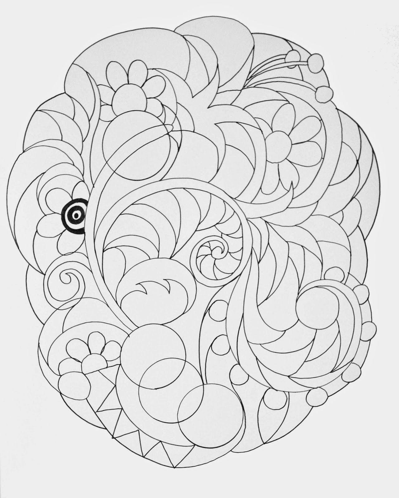 The Newest 20x24 Inch Zentangle Template For Cynthia