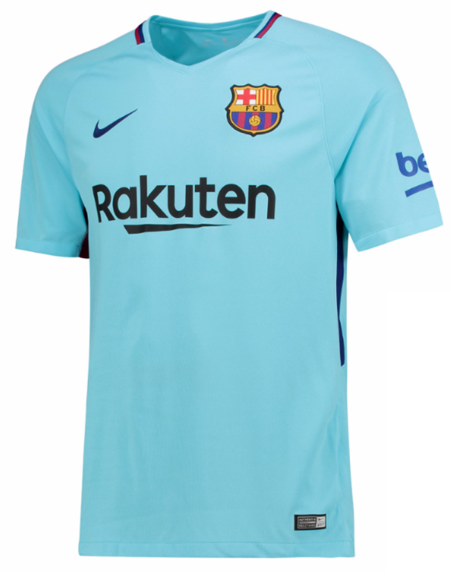 dbee5d51e2a NIKE FC BARCELONA AWAY YOUTH JERSEY 2017/18 YOUR TEAM. YOUR COLOURS. The  2017/18 FC Barcelona Stadium Away Older Kids' Football Shirt is made with  ...