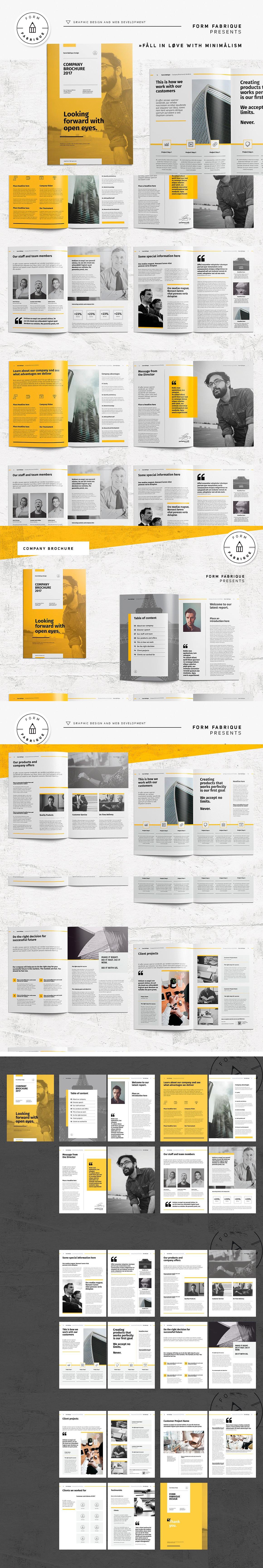 Company Brochure Template Pdf Indd  Brochure Design Templates
