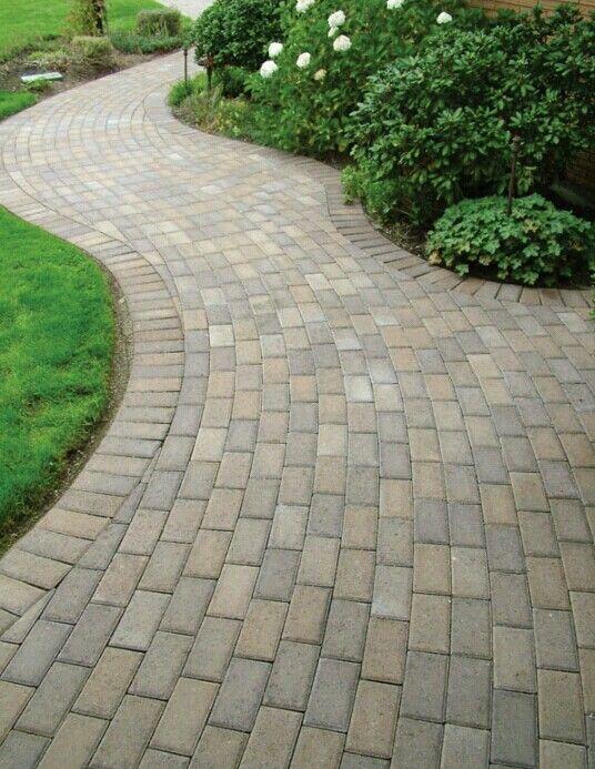 Simple Paving Stone Patterns Garden Paving Walkway Landscaping Backyard Walkway