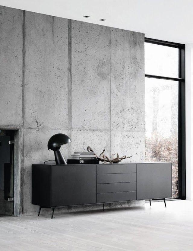 Concrete Slab Wall Via French By Design Tuesday Mix Black And White House Interior Concrete Interiors Interior