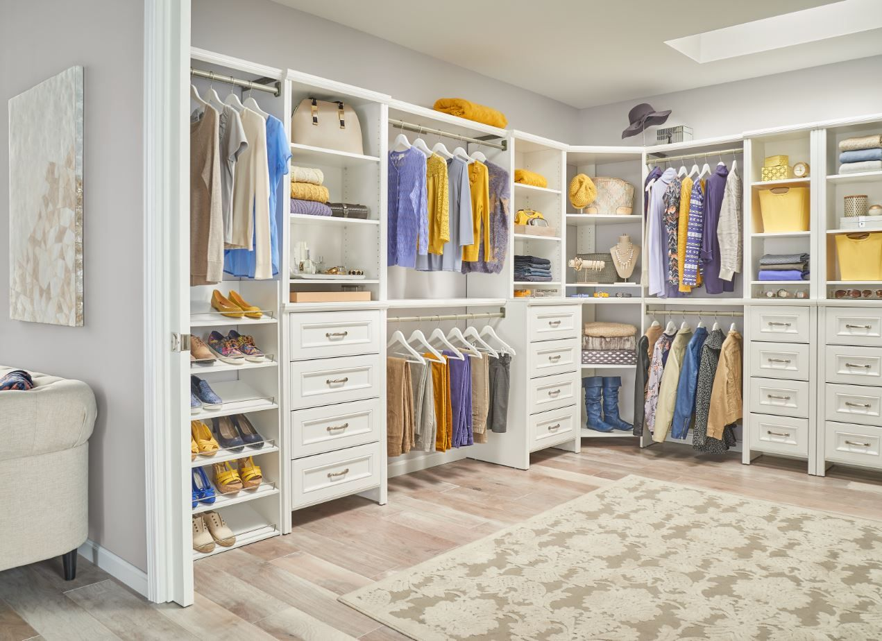 Our new Impressions white finish can give your master closet a ...