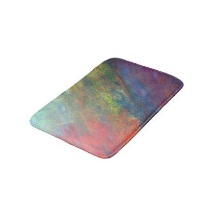 Resilient Bath Watercolor Rainbow Abstract Bathroom Mat