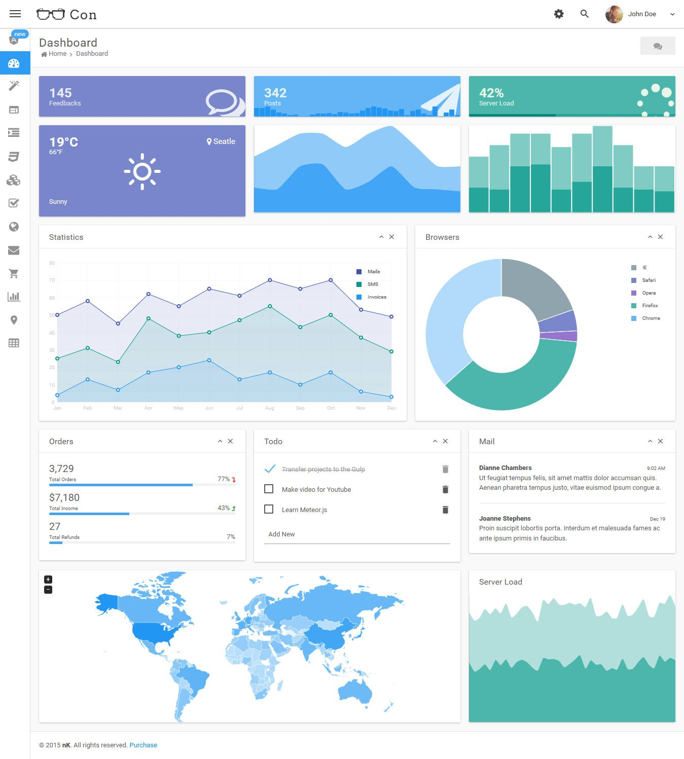 Con - Material Admin Dashboard Template | Dashboard template and ...