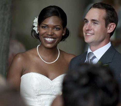 Interracial Wedding Couple  Titled Is Marriage For White -2897